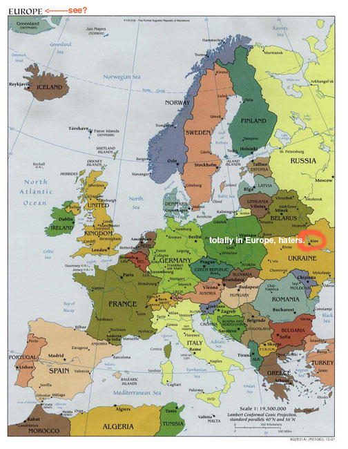 Map Of Europe Morocco